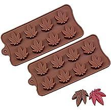 Molde de silicona para dulces Marijuana – 2 unidades – Chocolate Jelly Gumdrop Cupcake Toppers Gummy