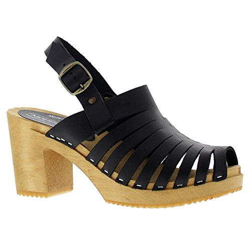 Moheda Womens Linda Leather Sandals Schwarz