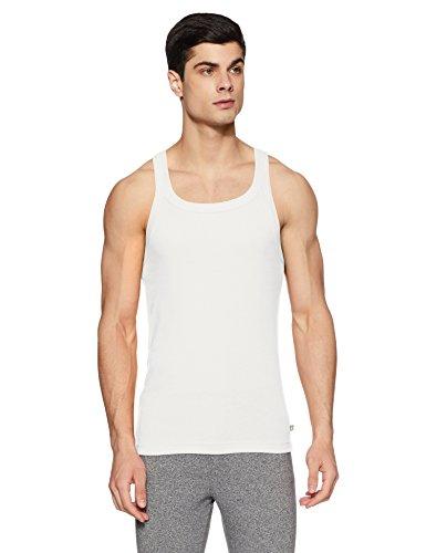 Jockey Men's Cotton Vest (US26-0105-WHITE White S)