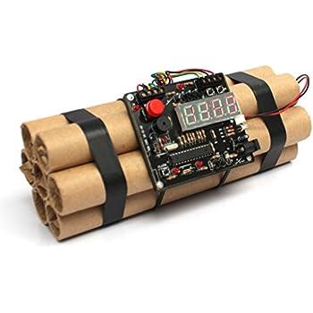 Defuse a Bomb Alarm Clock - Novelty Dynamite Styled Digital Clock