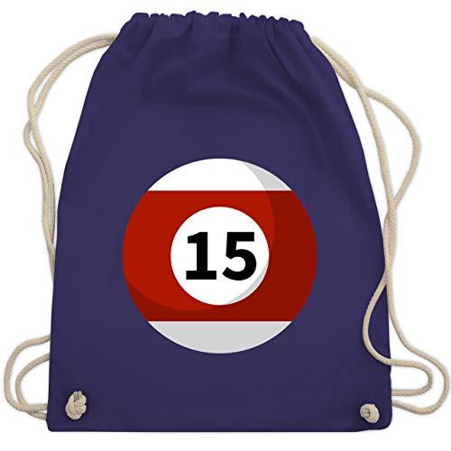 15 Für Gruppe Kostüm - Karneval & Fasching - Billardkugel 15 Kostüm - Unisize - Lila - WM110 - Turnbeutel & Gym Bag