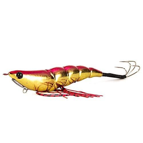 XU-XINGFU, 1 Stücke Tintenfisch Jig Rock Köder Verbunden Garnelen Köder 14 cm 19G Künstliche Harte Köder Garnelen Angeln Tintenfisch Haken Tintenfisch Octopus Köder (Color : Red) -