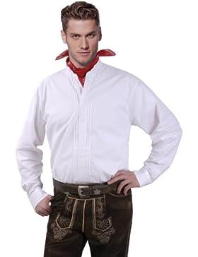 Moschen-Bayern Best-Quality Trachtenhemd Stehkragen Herren Langarm Kurzarm - Schlupfhemd Stehkragenhemd - 100%...