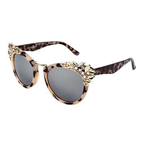 Meijunter Frauen Strass Katze Auge Sonnenbrille Frauen Mode Übergröße Cateye Spiegel Sonnenbrille