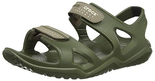 Crocs Swiftwater River Sandal M, Sandalias para Hombre, Verde Army Green/Khaki 354, 41/42 EU