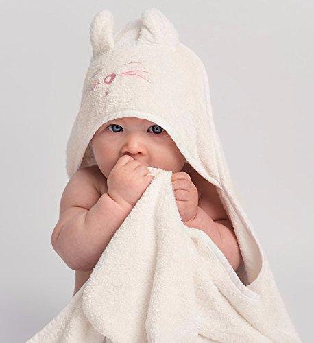 Serviette De Nain Bébé à Capuche Tiny Chipmunk Bambou Avec Oreilles - 90cm x 90cm - Extra Doux, Épais Et Absorbant - Parfait Pour Les Nouveau-nés, Les Bébés, Les Tout-petits Jusqu'à 4 Ans