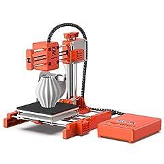 Idea Regalo - LABISTS X1 Stampante 3D, Mini e Portatile Stampante con Filamenti PLA 10m, Piastra di Costruzione Rimovibile, Stampa Online/Offline 3D Printer Dimensione di Stampa 10cm(L) x 10cm(W) x 10cm(H)