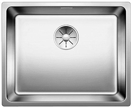 Blanco Andano 500-IF, Küchenspüle für normalen und flächenbündigen Einbau, Einbauspüle, mit InFino-Ablaufsystem, Edelstahl Seidenglanz; 522965