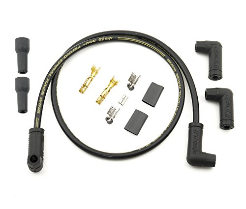 Accel Pack of 2 uni Black Spark Plug Wires 300+ 8.8mm with 90deg Boots PN: 175093