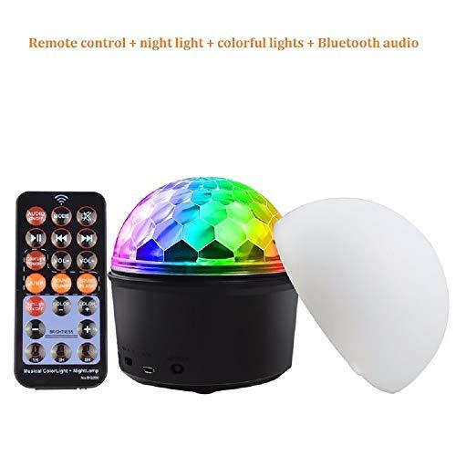 e bühnenlichter Fernbedienung + nachtlicht + Lichter + Bluetooth Audio Party Lampe Disco tragbare Beleuchtung 9 Farben Magic Ball Glitter Ball led licht ()