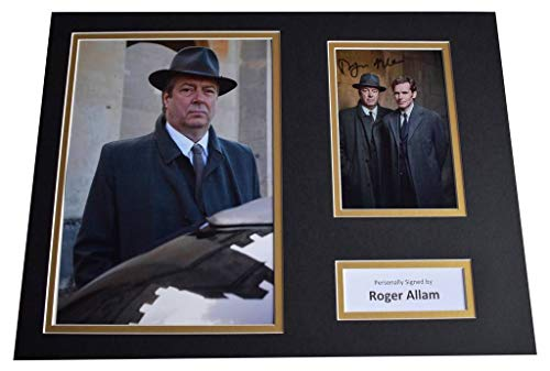 Sportagraphs Roger Allam Signed autograph 16x12 photo display Endeavour TV AFTAL COA