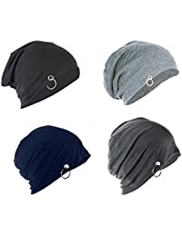 Michelangelo Unisex Cotton Combo Of 4 Beanie ( ,Navy Blue,Free Size)