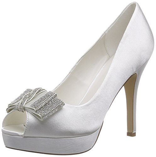Menbur Wedding Montse, Decolleté open toe donna, Avorio (Elfenbein (Ivory)), 36