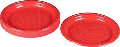 Kunststoff rot, 30 STK, DM 22 cm ()