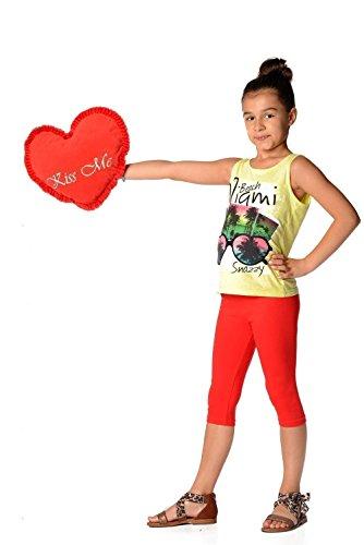 AE - Leggings - para niña rojo 10 años