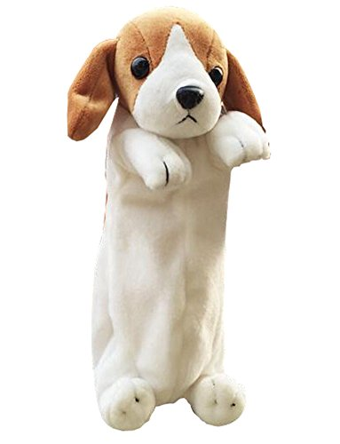 Dog Design weichen Plüsch-Bleistift-Kasten-Kasten-Hund Geldbörse, Labrador (Labrador-geldbörse)