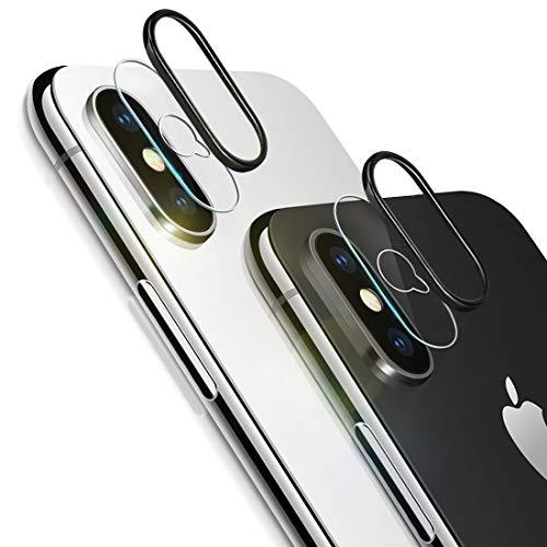 Rheshine iPhone XS/XS Max Kamera Panzerglas, iPhone XS/XS Max Kamera Transparentes Schutzglas,Ultra-klar 9H Härte, Anti-Kratzen, Anti-Bläschen Panzerglas Displayschutzfolie (2*Schutzfolie + 2*Ring)