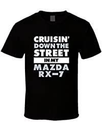 Night spread Cruisin Down the Street In My Mazda Rx-7 Straight Outta Compton Parody Car T Shirt