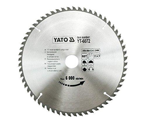 Preisvergleich Produktbild Yato professionelles TCT Kreissägeblatt 250mm, 60Zähne 30Bohrung (YT-6072)