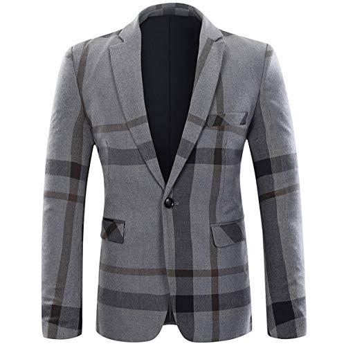 YOUTHUP Herren 2 Teilig Anzug Slim fit Business Tweed Retro Vintage Hochzeit Anzüge Sakkos Anzughose - Tweed Vintage-anzug
