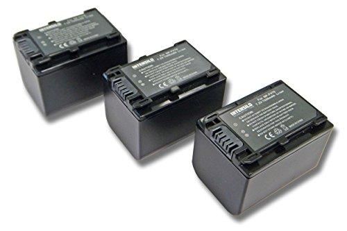 INTENSILO 3X Li-Ion Batería 1500mAh (7.2V) para Videocámara Sony HDR-CX110E, HDR-CX115E, HDR-CX116E por NP-FV70, NP-FV90, NP-FV100.
