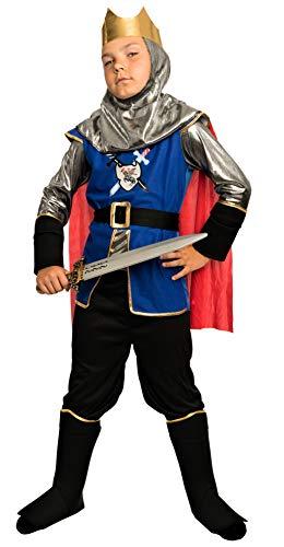 faschingskostuem ritter Magicoo königliches Ritterkostüm Kinder Jungen Mittelalter Gr. 92 bis 140 - Faschingskostüm Ritter Kostüm (134/140)