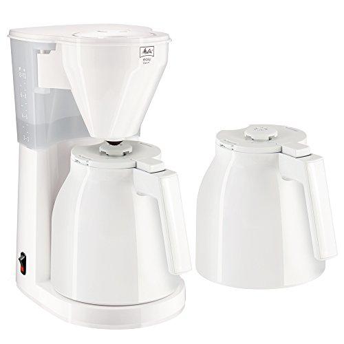 Melitta Easy Therm 1010-05, Filterkaffeemaschine inkl. 2 Thermkannen, Kompaktes Design, Weiß