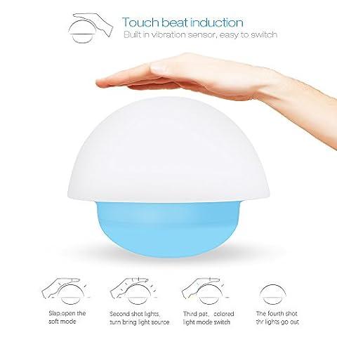 Lanktoo Lampe de Nuit Veilleuse LED Lumière d'Ambiance Rechargeable Night Light Éclairage pour Baby Room, Bedroom, Restaurant