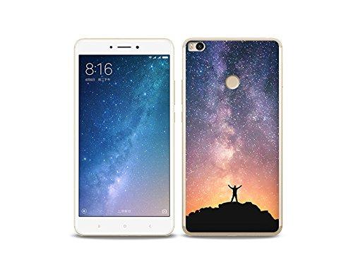 etuo Xiaomi Mi Max 2 - Hülle Foto Case - Himmel mit Sternen - Handyhülle Schutzhülle Etui Case Cover Tasche für Handy