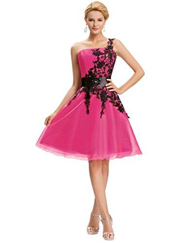entzückend abschlussfeier brautjungfernkleid knielang festliches kleid sommerkleid Größe 32 CL4288-2 (Kleider Satin Homecoming)
