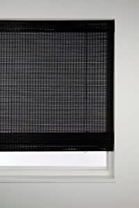 Sunlover Bamboo Wooden Roman Blinds Black W120cm Amazon