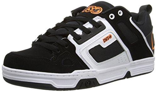 DVS Comanche, Chaussures de skateboard homme Noir (Black/White Nubuck Gunny)