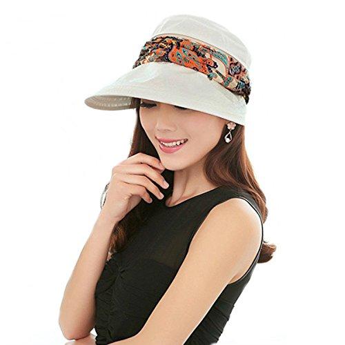 Frauen Sunhat UPF 50+ Sommer Outdoor Breite Krempe Strandhut UV-Schutz Gap Hals Face Klappe Hut für Damen, damen, beige