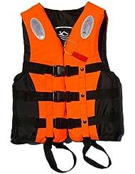 Anam líder internacional flotabilidad ayuda para adultos, chaleco salvavidas, chaleco de flotabilidad ayuda, kayak espuma Vida chaleco deportes acuáticos, naranja