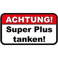 Sticker NEU JDM 1 x Aufkleber Achtung Super Plus Tanken Aufkleber