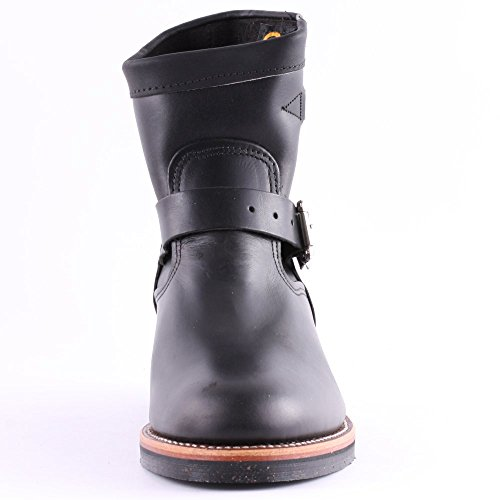 Chippewa 1901M51 Mens Leather Biker Boots Black Schwarz