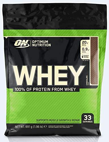 Optimum Nutrition ON Whey Protein Pulver. Zuckerarmes Eiweisspulver von ON -  Chocolate, 33 Portionen, 0,9kg -