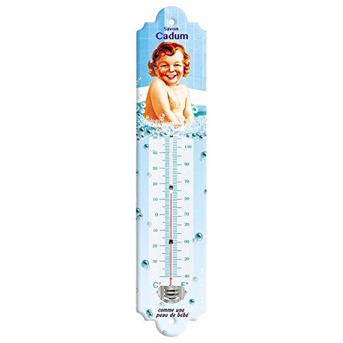 Editions Clouet 57045 - Thermomètre 30x8 cm Cadum - Bain de bébé