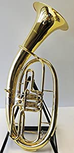 Tenor Horn Horn-Symphonie Wester Gold/Silver Minibal Joint with Deluxe Hard Case-New