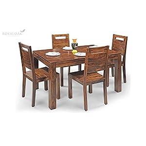 Custom Decor Catalunya Four Seater Dining Set – Mahogany