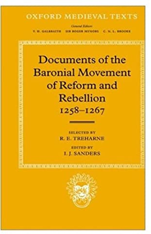 Documents of the Baronial Movement of Reform and Rebellion, 1258-1267