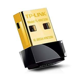 TP-Link TL-WN725N Adattatore USB Wireless N, 150 Mbps, Nano, ConfigurazioneSemplice