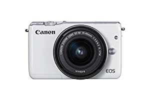 Canon EOS M10 Systemkamera 3 Zoll Kit mit EF-M 15-45mm