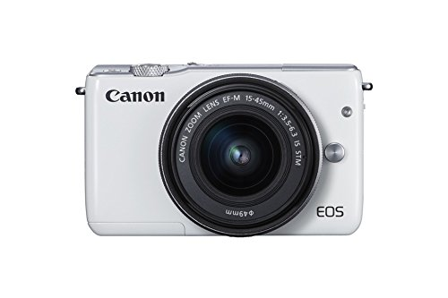 Canon-EOS-M10-Cmara-digital-compacta-de-18-Mp-con-objetivo-EF-15-45-mm-f35-63-IS-STM-CMOS-de-223-x-149-mm-DIGIC-6-AF-color-blanco