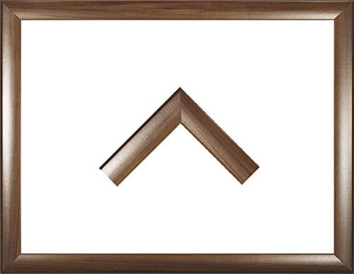 Holz Werkstoff Bilderrahmen TOSKANA 21 x 169 cm mit großer Farbwahl. Jetzt: Nussbaum dunkel Dekor. 2 mm Acrylglas Antireflex -