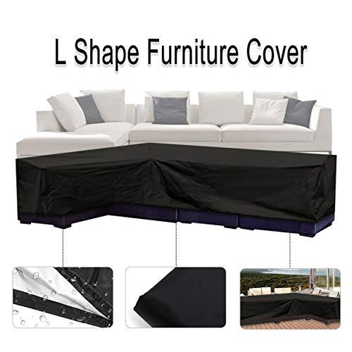 ESSORT L-Form Abdeckung für Gartenmöbel , L Form Schutzhülle Wasserdicht Sofa Abdeckung Schutz vor Staub und verlängert die Lebensdauer von Möbeln