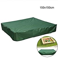 FOONEE Sandbox Cover, Square Dustproof Protection Sandbox Canopy With Drawstring, Waterproof Sandpit Pool Cover, Avoid The Sand And Toys Contamination, Green,