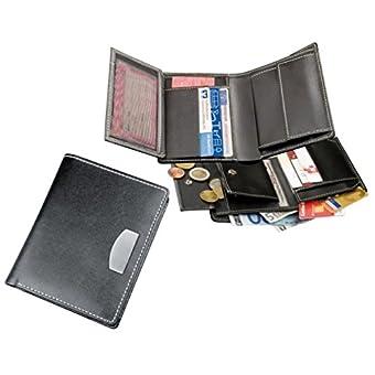 Geldbörse Clear Ausweishülle Kfz-Schein Etui mit Kartenfächern und Münzfach Ausweisetui