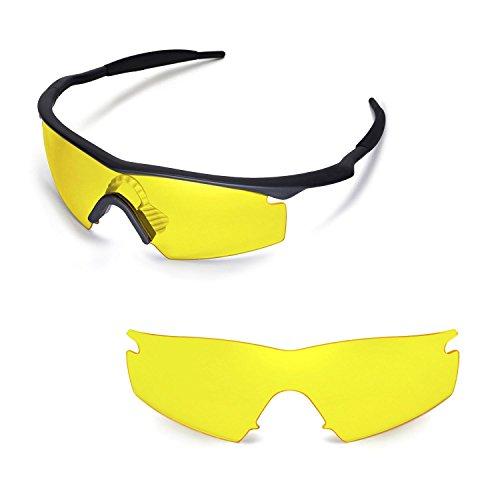 Walleva Ersatzgläser für Oakley M Frame Strike Sonnenbrille - Mehrfache Optionen (Gelb)