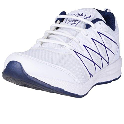 Lancer Men's White Navy Running Shoes-10 (HYDRA-46-White-Neavy-10)